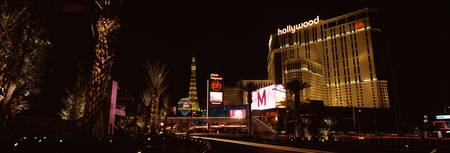 City lit up at night Citycenter The Strip Las Veg
