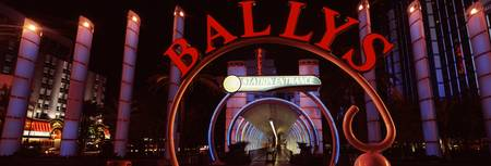 Neon sign of a hotel Ballys Las Vegas The Strip L