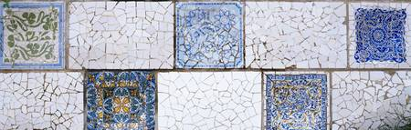 Mosaic details on a wall