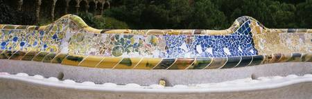 Mosaic details of a bench
