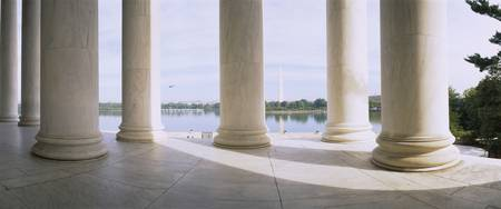 Marble floor and columns