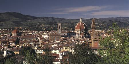 Palazzo Vecchio and Duomo Florence Italy