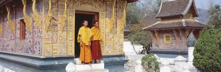 Monks Wat Xien Thong Luang Prabang Laos