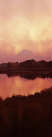 Reflection of a mountain in a river Oxbow Bend Sn