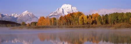 Reflection of trees in a river Oxbow Bend Snake R