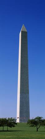Low angle view of the Washington Monument