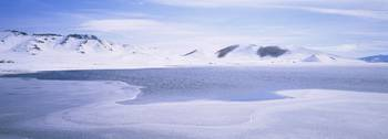 Panoramic view of a snowcapped landscape