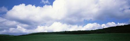 Clouds over a grassland