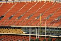 Empty seats in sports stadium
