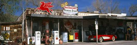 Store with a gas station on the roadside Route 66