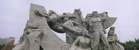 Close-up of statues