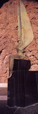 Statue at a dam Boulder City Hoover Dam Arizona N