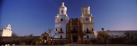 Low angle view of a church Mission San Xavier Del