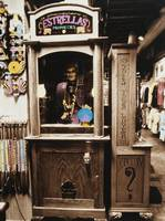 Fortune teller machine in a store