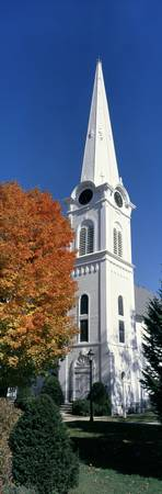 Church Steeple and Fall Color Manchester VT