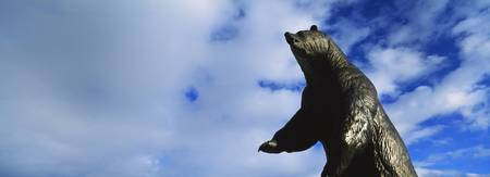 Low angle view of the statue of a bear