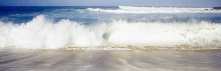 Crashing Waves on Beach Waimea Bay HI