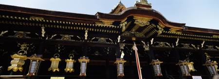 Lanterns hanging in a shrine