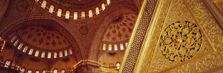 Low angle view of ceiling of a mosque with ionic