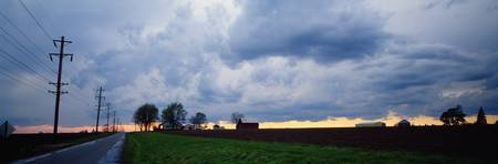 Storm clouds rural Illinois