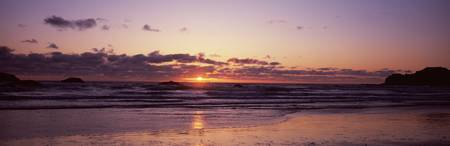 Ocean at sunset Bandon Beach Bandon Coos County O