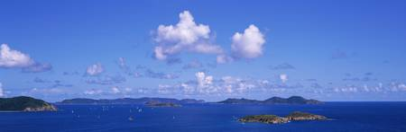 Sailboats in Coral Bay East End St. John US Virgi