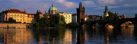 Charles Bridge Vltava River Prague Czech Republic