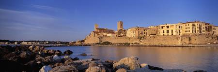 Town at the waterfront Antibes Alpes Maritimes Pr