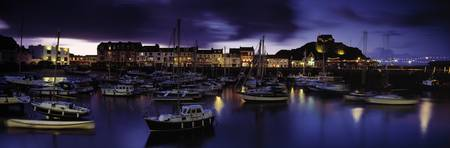 Boats at a harbor Ilfracombe North Devon Devon En