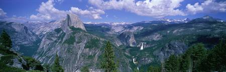 Nevada Fall and Half Dome Yosemite National Park