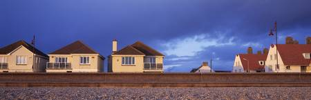 Houses on the coast Seaton East Devon Devon Engla