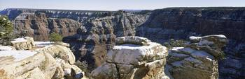 Grandview Overlook 1st Snow S Rim of Grand Canyon