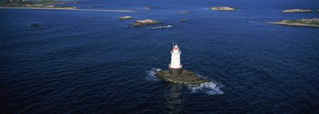 Aerial view of a light house