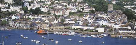 Town on an island Salcombe South Hams Devon Engla