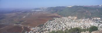 Village on a mountain Mt Tabor Daburiyya Israel