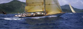 Yacht racing in the sea