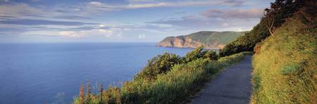 Coast path Foreland Point Lynton North Devon Devo