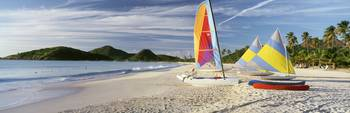 Sail boats on the beach