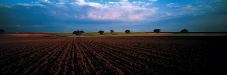Plowed Fields Castile and Leon Spain
