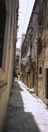 Buildings along an alley in old city