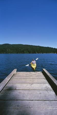 Kayaker on a lake