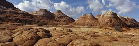 Rock formations on a landscape