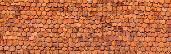Close-up of old roof tiles