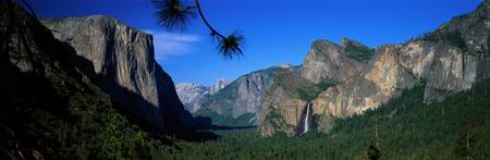 El Capitan and Bridal Veil Falls Yosemite Nationa
