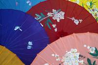 Chinese painted umbrellas