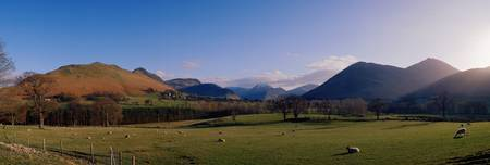 Valley Northern Lake District Cumbria Newlands En