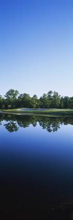 Lake on a golf course