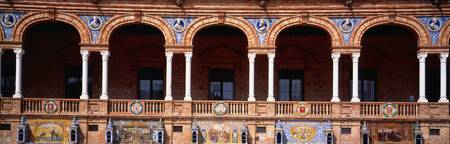 Arches And Tiles Plaza de Espana Seville Spain