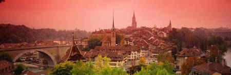 Dusk Bern Switzerland