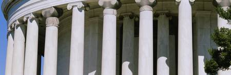Close-up of columns of a memorial building